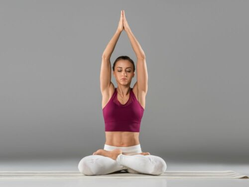 Image of person practicising yoga position