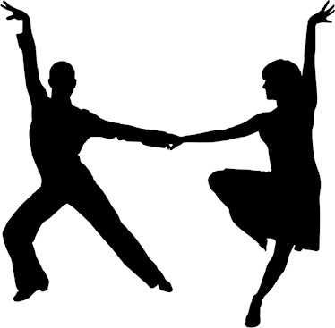 Image of Latin dancing couple in silhouette
